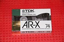 TDK  AR-X   74              BLANK CASSETTE TAPE (1)   (SEALED)