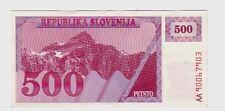 Slovenia 500 tolariev  1990 1992   FDS UNC   pick 8 lotto 1105