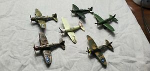 Six 1970 s Bachmann mini planes, WW2 P47 Thunderbolts