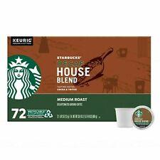 Starbucks Coffee Decaffeinated Medium Roast House Blend K-Cup 72 Count BB 04/21