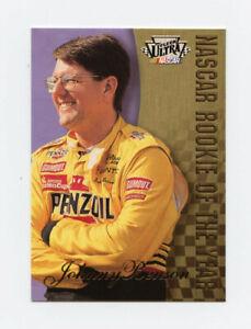 Johnny Benson 1997 Fleer Ultra Nascar Rookie Of The Year Insert Card SP R1 ROY