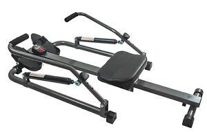 Rudergerät faltbares Fitnessgerät Ruderzugmaschine Training Bauch Rücken Arme