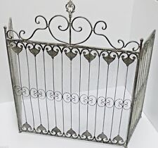 FRENCH PROVINCIAL FIRE SCREEN guard grey chalk  WROUGHT IRON QUALITY NEW