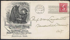 USA 1893 2c Red Superb Corbett Bros Horse Illustrated Advertising Envelope