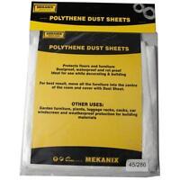 Mekanix 45/286 Polythene Dust Sheet 3.6m x 2.7m Home Decorating Accessories New
