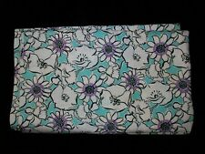 Vintage 30s 40s Aqua White Purple Black Floral Cotton Fabric Quilt Apron BTHY