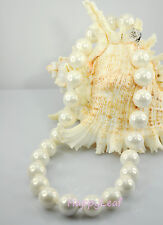 15-16mm Large Top white black golden South Sea SHELL Pearl Strand Necklace 18""