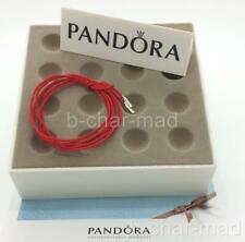 PANDORA | GENUINE Red String Cord Silver Ends Bracelet / Necklace: 390961CRD-100