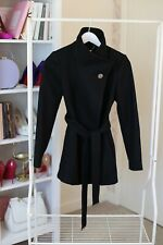 TED BAKER WOOL SHORT COAT, BLACK, SIZE 0 ( UK 6), very good condition