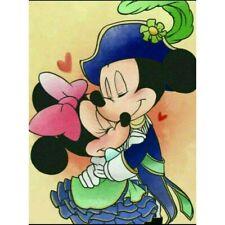 Diy 5D Diamond Mosaic Rhinestone Mickey Mouse Lovers Craft Art Decoration