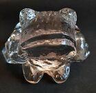 Crystal Glass Frog by Bertil Vallien for Kosta Boda of Sweden 1970/80's