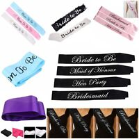 Colorful Sashes Hens Night Party Engagement Bride To Be Bridesmaid Maid Honour;