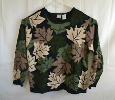 Vintage Blair Leaves Womens Size 2XL Long Sleeve Knit Sweater Autumn Fall