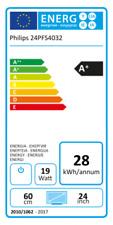 Philips 24 Zoll TV 24PFS4032/12 ultraflacher HD LED Fernseher 2x HDMI 1x USB