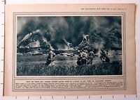 1915 WWI WW1 PRINT GERMAN SOLDIERS SALVING GOODS POLISH VILLAGE FIRED BY COSSACK