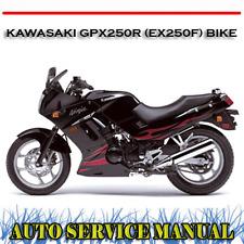 KAWASAKI GPX250R (EX250F) BIKE 1987-2005 WORKSHOP SERVICE REPAIR MANUAL ~ DVD