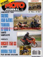 MOTO JOURNAL  989 Essai Test DUCATI 750 SS YAMAHA XT 600 SUZUKI DR 650 Djebel