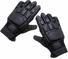 New Full Finger Plastic Back Air soft Gloves Paintball Black