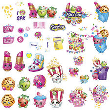 SHOPKINS WALL DECALS 39 New Grocery Stickers Peel and Stick Removable Decor