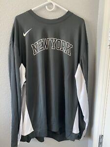 Nike New York Knicks PE Team Issue Warm Up Shooting Jersey Size XXL AV0911-060