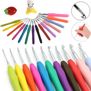 1pc Crochet Hook Multicolor DIY Knitting Needle Soft Grip With Ergonomic Handle