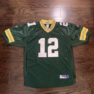Green Bay Packers NFL Football Super Bowl Jersey 12 Charles Woodson Mens Size 54