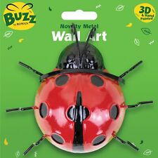 "6"" Metal Ladybird Garden Wall Decorations Ornament Fence Wall Outdoor Summer"