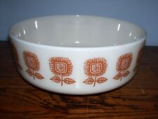 Vintage Federal 3 1/2 QT. Mixing Bowl Sunflower Pattern.. Nice!