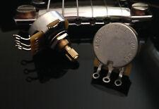 2X CTS TAOT CUSTOM 500K Pots SHORT Split Shaft Audio Taper - 10% Tol. - 450G