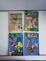 Vintage Pink Panther Comic Book Lot Of 4