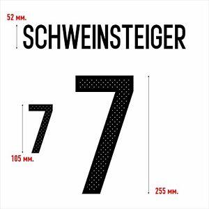 Schweinsteiger 7. Germany Home football shirt 2016 - 2017 FLEX NAMESET NAME SET