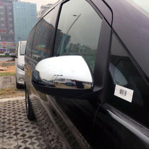 For Mercedes-Benz Vito ABS Chrome Side Mirror Cover Trim 2 Pcs 2014 - 2019