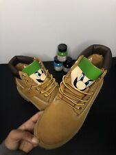 Kids Timberland Boots Size 3, Luigi Cartoon (Custom, Hand Painted Timbs)
