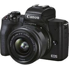 Canon EOS M50 Mark II Mirrorless Digital Camera with 15-45mm Lens - Black **OPEN