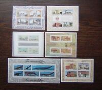 South West Africa 1975 1981 M/S MNH Churches Houses Rock Paintings Whales etc