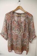 Massimo Dutti Shirt Bluse Tunika blouse Seide silk D 38 UK 10- einmal getragen