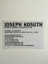 Joseph Kosuth, Private View invitation/plié Affiche, 2013