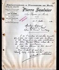"""LES ARPENTS prés de MEAULNE (03) SCIERIE / CAISSES BOIS """"Pierre SAULNIER"""" 1910"""