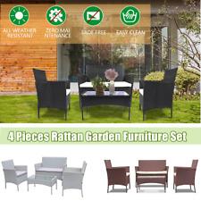 Rattan Garden Furniture Set 4Pieces Sofa Patio Outdoor Hotel Table Wicker Chairs