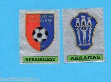 PANINI CALCIATORI 1985/86 -FIGURINA n.612- AFRAGOLESE+AKRAGAS -SCUDETTO-Rec