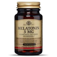SOLGAR Melatonin 3mg (Supports Falling Asleep) 60 Lozenges FREE SHIPPING