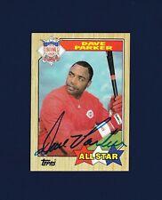Dave Parker signed Cincinnati Reds 1987 Topps All-Star baseball card