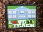 Metal Wreath Sign 9x7 Love To Teach School Teacher New
