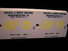 CHICAGO & NORTH WESTERN/RTA RAILWAY RAILROAD MACHINE TICKETS
