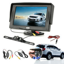 4.3'' TFT LCD Monitor & Wireless Car Rear View System Backup Camera Night Vision