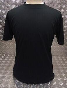 Genuine British Military Mesh T-Shirt Anti Static Self Wicking Stealth Black