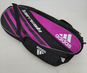 Adidas Barricade 3 Womens Tennis Racquet Bag Black Pink EUC