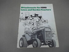 Ford Sales Brochure for Attachments for 100 120 garden tractors.