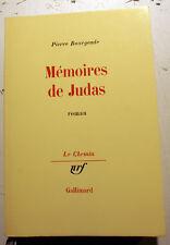BOURGEADE/MEMOIRES DE JUDAS/ED NRF/COLL LE CHEMIN/1985/EO/ETAT NEUF