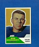 1963 FLEER FOOTBALL #117 BOB DOUGHERTY EX-MT/NM OAKLAND RAIDERS